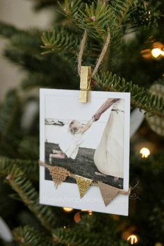 """Lines Across"": Polaroid Ornament - The Winthrop Chronicles"