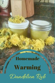 DIY warming dandelion rub for sore, tired muscles (scheduled via http://www.tailwindapp.com?utm_source=pinterest&utm_medium=twpin&utm_content=post154907271&utm_campaign=scheduler_attribution)