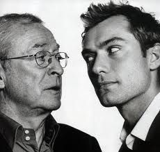 Michael Caine and Jude Law - joint potrait by David Bailey I like the way he makes the subject look interesting and natural...not just a standard posed portrait.
