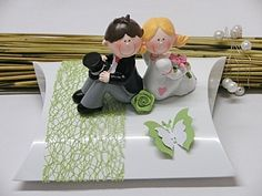 Geldgeschenke - Geschenkbox/Geldgeschenk für Hochzeit m. Brautpaar - ein Designerstück von Festtags-Shop bei DaWanda