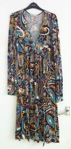 Topshop size 12 mulberry psychedelic paisley print vintage-influence maxi dress