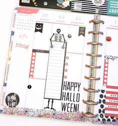 Happy Planner spreads for the month of October. Ve… Happy Planner spreads for the month of October. Create 365 Happy Planner, To Do Planner, Mini Happy Planner, Planner Tips, Planner Layout, Planner Pages, College Planner, Cute Planner, College Tips