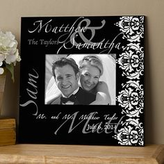 ae463a933b7b The Wedding Couple 5x7 Personalized Wall Frame