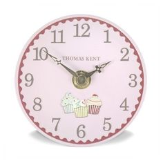 "Thomas Kent 4"" Portobello Cupcakes Mantel Clock - NEW for 2012 Thomas Kent http://www.amazon.co.uk/dp/B00745CIHM/ref=cm_sw_r_pi_dp_IuE9ub0QPAH3F"