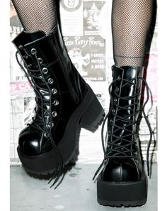 Women's gothic boots by Pleaser. Faux leather goth boots by Demonia. Gothic ankle boots and booties. Platform High Heels, Platform Boots, High Heel Boots, Heeled Boots, Women's Shoes, Me Too Shoes, Shoe Boots, Ankle Boots, Galaxy Converse