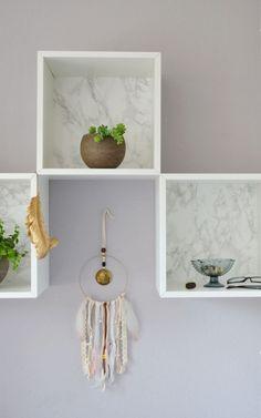 IKEA Valje Hack: Hur kunde en ädel DIY Vägghylla zauberst i marmor look |