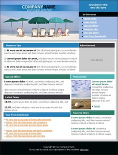 interesting newsletters   Sunny Beach Holiday Newsletter Template