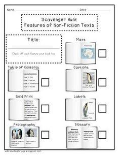 NON-FICTION TEXT FEATURES FREEBIE - TeachersPayTeachers.com