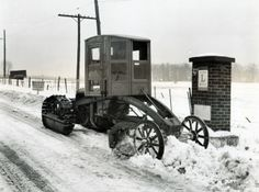 Keeping the highway clear of snow near Bucyrus, Ohio. (date unknown) http://ow.ly/r3EFG