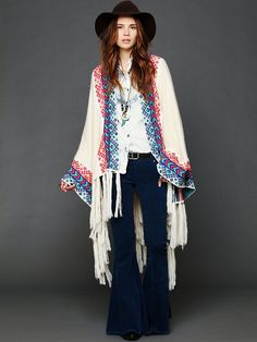 Free People Almost Famous Poncho