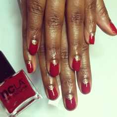 Half moon nails using NCLA nail polish in : Rodeo Drive Royalty . www.shopncla.com