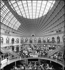 Everyone else has photographed it so I thought I would to. England I fancy coming back here and trying a panograph thingy. Leeds Corn Exchange, Broad Spectrum, Beautiful Architecture, Black And White Photography, Beautiful Places, Louvre, Fair Grounds, Gallery, Leeds England