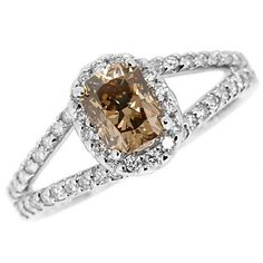 1.48ct VS1 Radiant Cut Cognac Champagne Brown by JewelryPoint, $2470.00