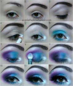 Eye Makeup Tips.Smokey Eye Makeup Tips - For a Catchy and Impressive Look Make Up Tutorial Contouring, Party Makeup Tutorial, Elsa Makeup Tutorial, Simple Eyeshadow Tutorial, Fairy Makeup, Eyeshadow Makeup, Eyeshadow Steps, Eyeshadow Palette, Makeup Brushes