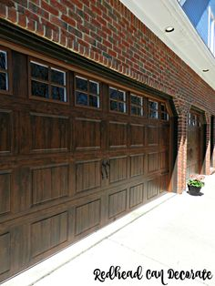 How to replace garage doors! I had no idea how easy it is. She explains everything.