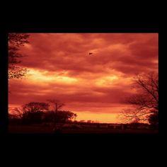 Orange Stormy Sky Posters by janislil