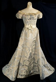 1894 silver damask ball gown