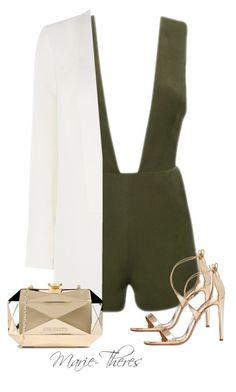 """""""#116"""" by styledbymarietheres ❤ liked on Polyvore featuring Aquazzura, Warehouse and Love Moschino"""
