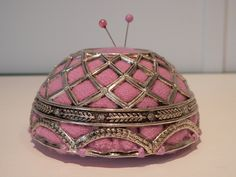 Silver plate pin cushion