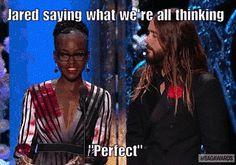 Jared Leto Couldn't Keep His Eyes Off Lupita Nyong'o at the SAG Awards