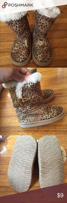 Cheetah Print Boots Very comfy and cute cheetah print boots for your little princess. Gently used. Shoes Boots