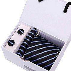 4368eb358fd14 Homme Cravates Mens Haute Couture Hommes Noir Maigre Cravate Ensemble  Mouchoir Ensemble 7.5cm Largeur Cravates Jacquard Corbata Coffret Cadeau  Emballage ...