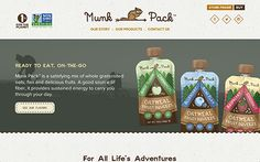 Munk Pack is the first ever on-the-go Oatmeal Fruit Squeeze for adventurers and explorers. Motto created the branding and packaging for the company as well.