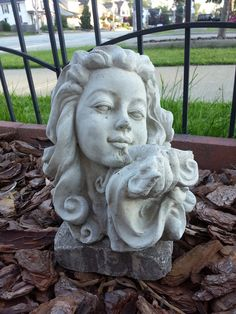 Statues add charm to any landscape or yard. Girl Statue