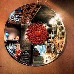 #wallmirror with handcarved rose wood piece #hirefdesign