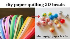 diy||Paper Quilling 3D Beads||making Quilling Paper beads ||Quilled deco...