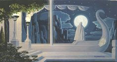 """oldchildrensbooks:  """" Fantasy Painting Original Art.c.1978.  In the fall of 1975, Greg and Tim Hildebrandt burst into the world of fantasy art with a calendar of their renderings of characters and scenes from J.R.R. Tolkien's The Lord of the Rings...."""