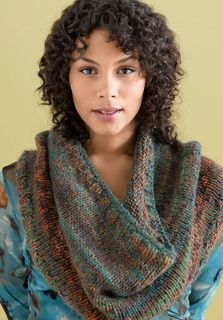 This colorful, cozy neckwarmer is one of winter's hottest accessories. (Lion Brand Yarn)