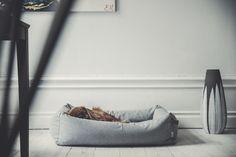 Denjo Dogs - Cloud7 Sleepy Deluxe Tweed Grey dog bed.   #dogbed #cloud7 #homeinterior #doginterior #nestbed #cavalierkingcharlesspaniel #organic #hundbädd #hundsäng #hundinredning #heminredning Grey Dog, Dog Bed, Bean Bag Chair, Tweed, Bomull, Interior, Dogs, Organic, Design