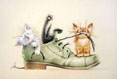 Просмотреть иллюстрацию Были у хозяина любимые ботинки... из сообщества русскоязычных художников автора Корякина Юлия в стилях: Детский, нарисованная техниками: Карандаш, Тушь.