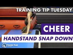 Handstand Snap Down on Bouncy Surface Efficient tumbling requires good shaping throughout the connection of skills. This simple drill uses a bouncy surface, . Gymnastics Stretches, Gymnastics Tricks, Gymnastics Coaching, Stretch Routine, Personal Injury, Injury Prevention, Handstand, Training Tips, Cheerleading