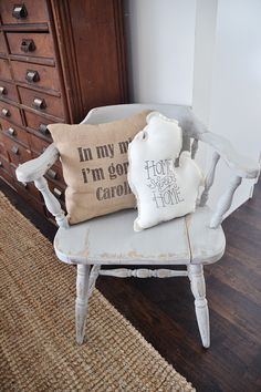 A Cozy Gray Chair Makeover -