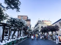 Taking a walk in Taormina!