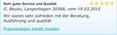 Malerarbeiten - Service - Kundenempfehlung.