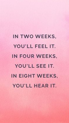 Needed this reminder today. I'm at week 2 and feeling it, but was discouraged I'm not seeing more. Dumb!! I feel it so I know the progress is there. Trust the process     Make it to 4 weeks and then Keep going!