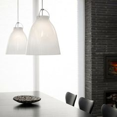 The Caravaggio pendant lamp has obtained the status of a genuine new classic in record time.  http://www.ylighting.com/lightyears-caravaggio-opal.html
