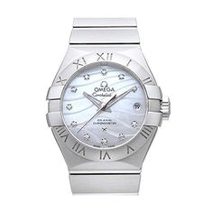 cool Omega Constellation Co-Axial 27 Women's Automatic Watch with Mother of Pearl Dial Analogue Display and Silver Stainless Steel Bracelet 12310272055002 just added...