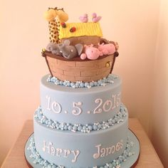 This Noah's Ark cake made for my customer's little boy's...