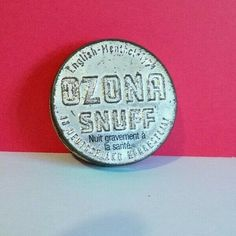 VINTAGE EMPTY OZONA SNUFF TIN - DISCOVERED IN FRANCE  Ref: 889 Snuff Tobacco, Tins, Empty, France, Personalized Items, Vintage, Things To Sell, Tin Cans, Vintage Comics