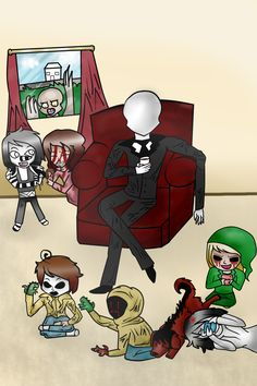CreepyPasta Children by KookiesNKreamCollie, awww... so cute! The rake is such a creep though :P