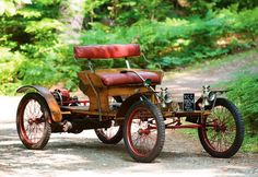 1904 Orient Buckboard..a barebones car built in Waltham, MA. Was the cheapest car you could buy at the time...