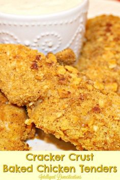 You can use any crackers you happen to have in your panty. We used Cheeze-It cracklers to make our Crusted Baked Chicken Tenders recipe. Quick and easy chicken tenders recipe. Lunch Recipes, Fall Recipes, Crockpot Recipes, Dinner Recipes, Cod Recipes, Ramen Recipes, Carrot Recipes, Spinach Recipes, Cauliflower Recipes