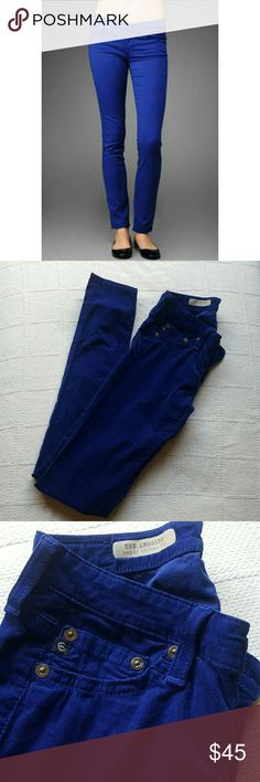 AG Adriano Goldschmied Legging Cobalt Corduroy Excellent used condition.  Super soft cobalt colored corduroy. AG Adriano Goldschmied Pants Leggings