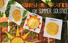 I've rounded up a bright and shiny collection of summer solstice crafts for the kids to make and take this summer!