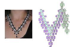Album - Google+ Diy Necklace Patterns, Beaded Jewelry Patterns, Beading Patterns, Beading Techniques, Beading Tutorials, Seed Bead Projects, Beaded Banners, Peyote Beading, Beadwork