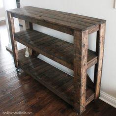 Super Easy DIY Wooden Entryway Console Table